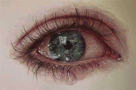 the crying eye amazing anxiety beautiful color crying drawing eyes
