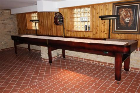 custom made shuffleboard tables installed in chicago