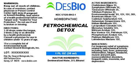 Benzene Detox by Dailymed Petrochemical Detox Chelidonium Majus