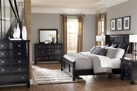 modern bedroom interior design with black wood bedroom furniture fnw
