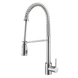 commercial style kitchen faucets ruvati rvf1215 cascada commercial style pullout spray