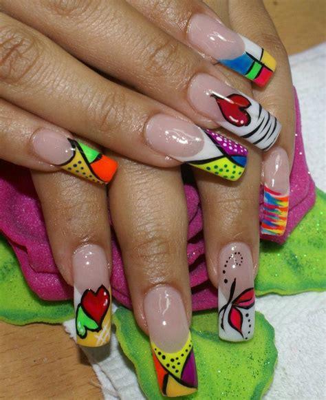 imagenes de uñas acrilicas de colores u 209 as pintadas de colores fosforescentes solo love alin