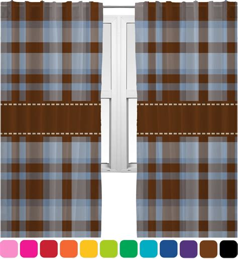 two color curtain panels two color plaid curtains 20 quot x84 quot panels lined 2