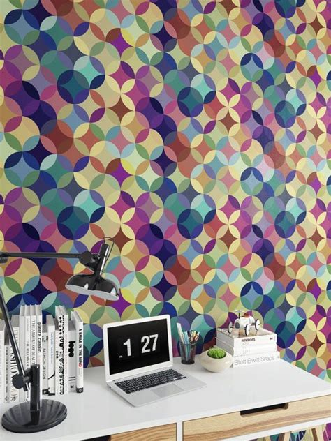 colorful removable wallpaper colorful circles 2 vinyl wallpaper removable wallpaper