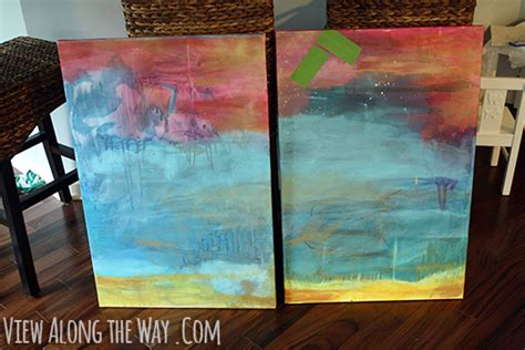 acrylic paint onto a canvas then submerge into water how to make a herringbone easy and