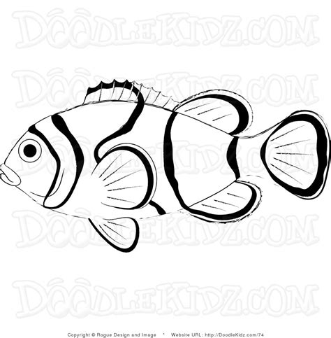 coloring pages of saltwater fish clown fish coloring page free coloring pages