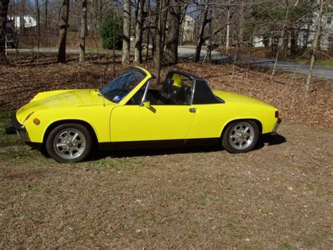 porsche 914 yellow sell used porsche 914 2 0 1973 yellow black great in