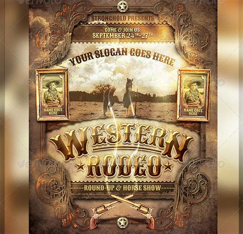 25 Really Awesome Typography Flyer Psd Templates Web Graphic Design Bashooka West Poster Template
