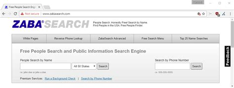 Free Find Peoples Address Zabasearch Free And Advanced Search Engine Tech News Log