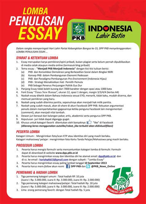 Membuat Essay Untuk Lomba   lomba essay 2013 mahasiswa