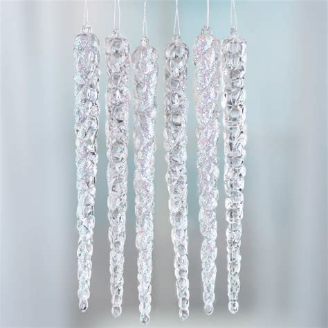 sparkling acrylic icicle ornaments christmas ornaments