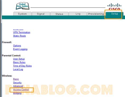 Wifi Dirumah Media cara memblokir akses ke wifi media dengan modem cisco dpc2320 penablog