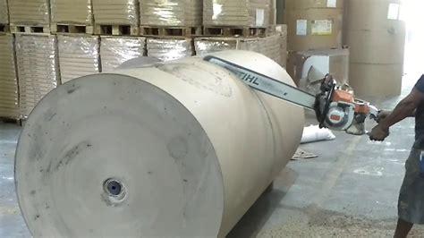 Mesin Potong Kertas Roll cara potong roll kertas dengan mesin potong kayu atau