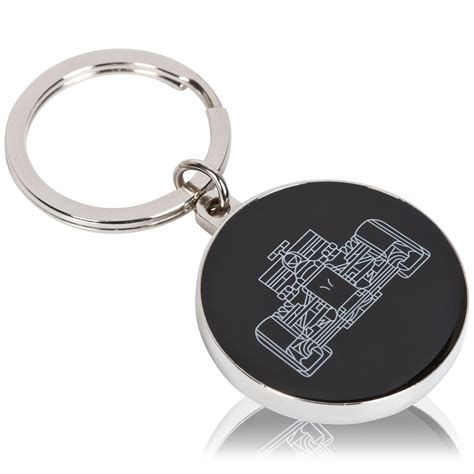 mclaren honda team keychain keyring key holder circular