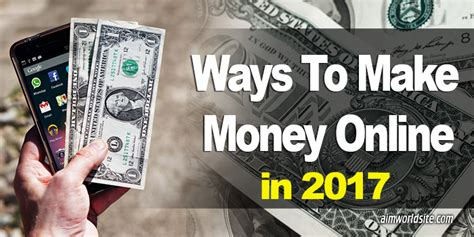 How To Make Money Online 2017 - ways to make money online working tips and guide in 2017