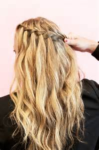 plait at back of hairstyle how to style waterfall braids fashionisers