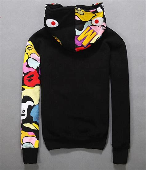 Hoodie Zipper Assc Merah 11 Jidnie Clothing new japan s bape shark zip hoodie sweater jacket aape black grey jacket ebay