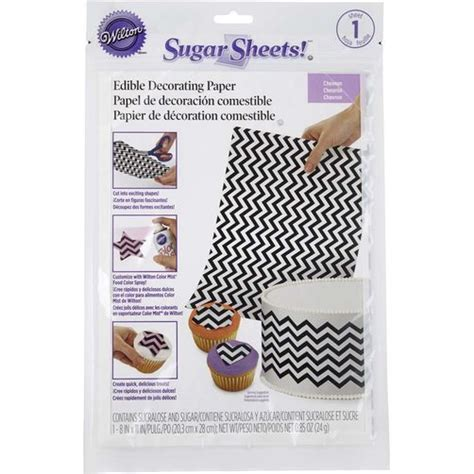 How To Make Sugar Sheets Edible Decorating Paper - chevron sugar sheets edible decorating paper wilton