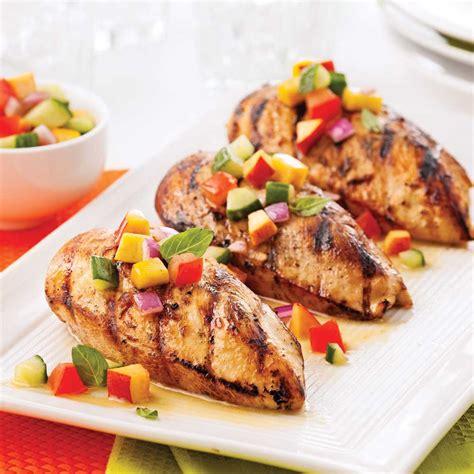 Poulet Grille poulet grill 233 salsa fra 238 che de nectarine et basilic