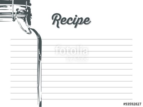 jar recipe card template quot simple recipe card with jar with a hook in