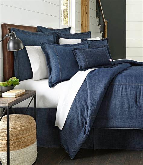 Cremieux Cotton Denim Comforter Dillards Denim Bedding