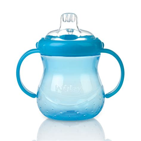 Nuby 360 Grip N Sip 2 In 1 Combo Spout Straw Sippy Cup 240ml 57 nuby baby easy grip n sip toddler non spill silicone spout leak proof 240ml cup sustuu