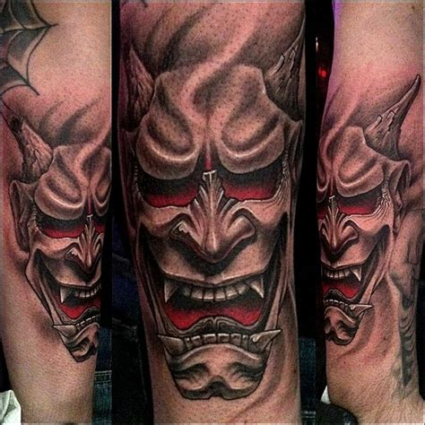 hannya mask tattoo colour meaning stefano alcantara tattoos realistic hannya mask tattoo