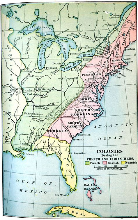 america map in 1754 colonies during the and indian wars