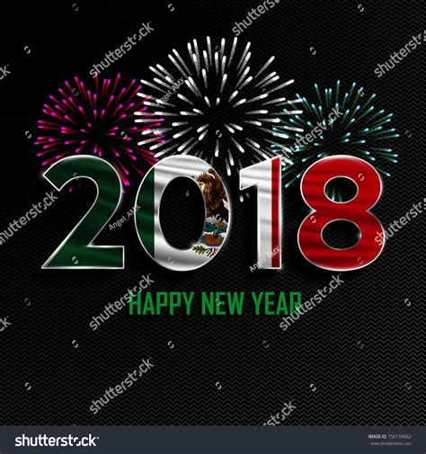happy new year merry christmas 2018 stock vector 750134062