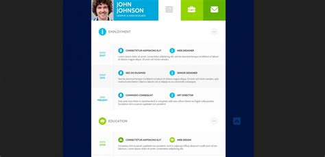 简历新玩法 10个创新的扁平风简历页面设计