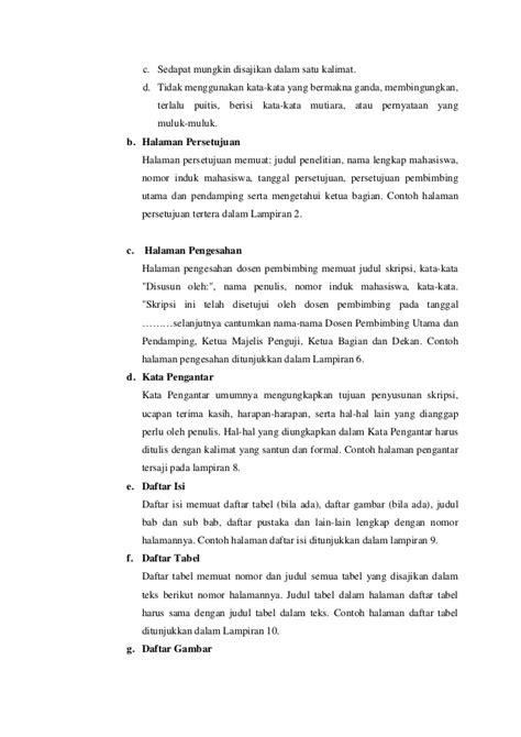format penulisan skripsi hukum pedoman penulisan skripsi