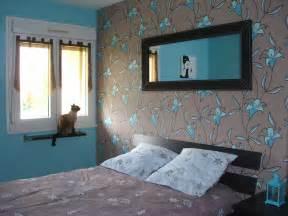 d 233 coration chambre turquoise et chocolat