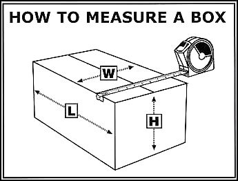 how to measure a box industrial cleaning janitorial moving shipping and packing supplies president industrial