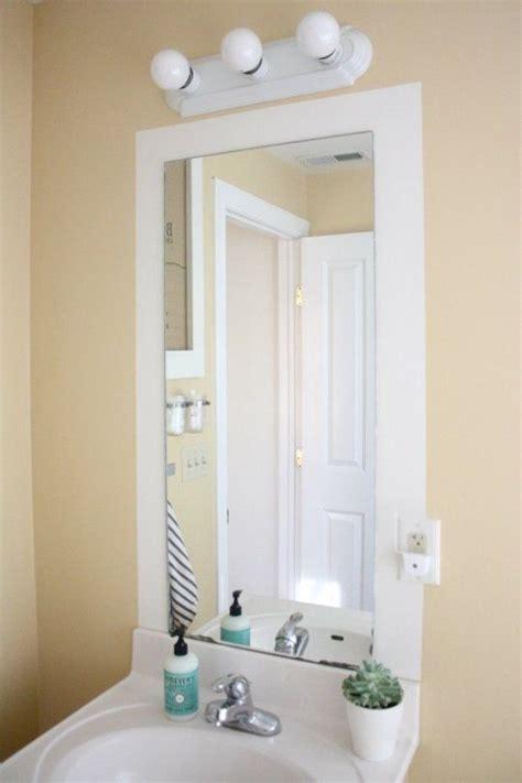 how do you frame a bathroom mirror 25 small bathroom ideas you can diy small bathroom
