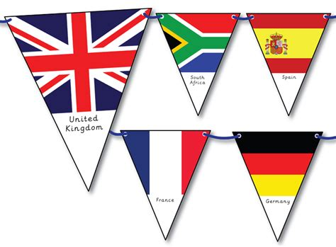 printable flags of the world bunting fellowes idea centre ideas for school classroom