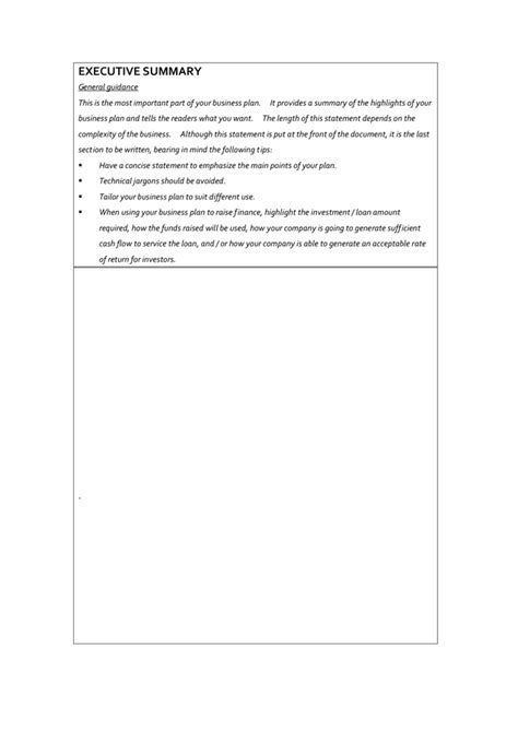 business plan template in word and pdf formats page 5 of 13