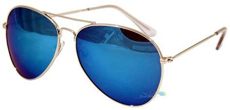 Sunglasses Marc 1887 Mirror Qulity aviator sunglasses blue mirrored lens tint lens
