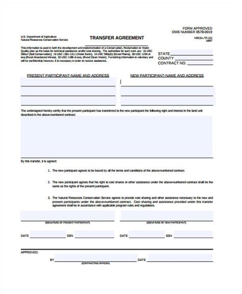 free business transfer agreement template 9 transfer agreement templates free sle exle