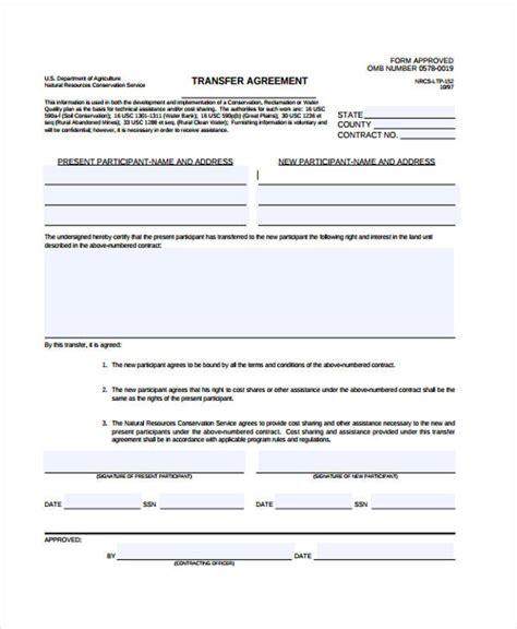 transfer agreement templates  word  apple