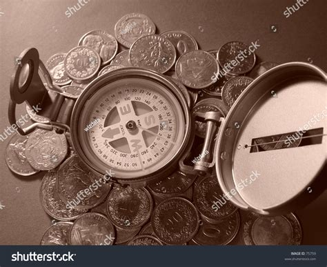 Compass Coin For Collectors Compass Coins Stock Photo 75759