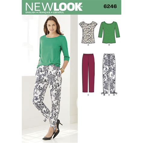 pattern taper pattern for misses tapered ankle pant and knit top