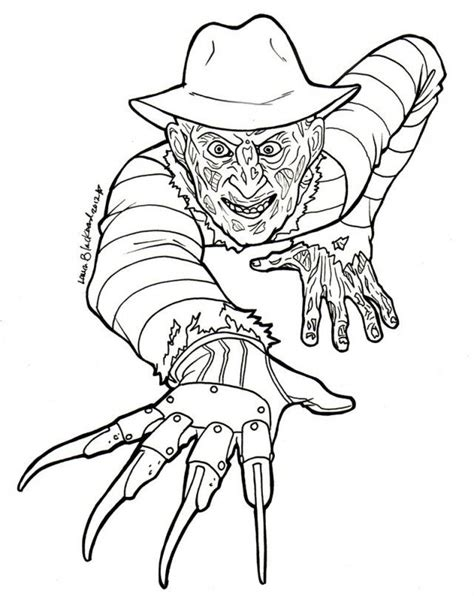 freddy krueger coloring pages coloring home