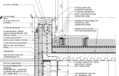 detailed roof section lowell s e studio stat page arch pinterest detailed