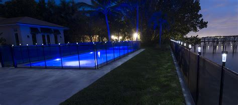 solar fence lighting pool fence solar light saver pool fence systems