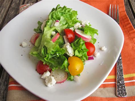 garden green salad with radishes my menu pal