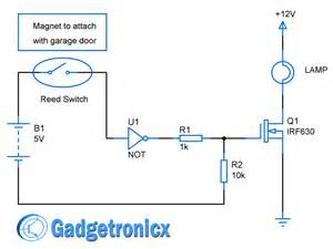 Car Door Light Circuit Diagram Automated Garage Door Lights Circuit Gadgetronicx