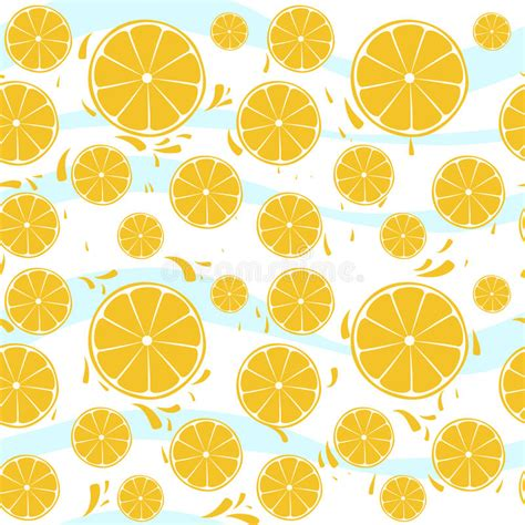 background pattern splash oranges slices seamless pattern splash on blue whi stock