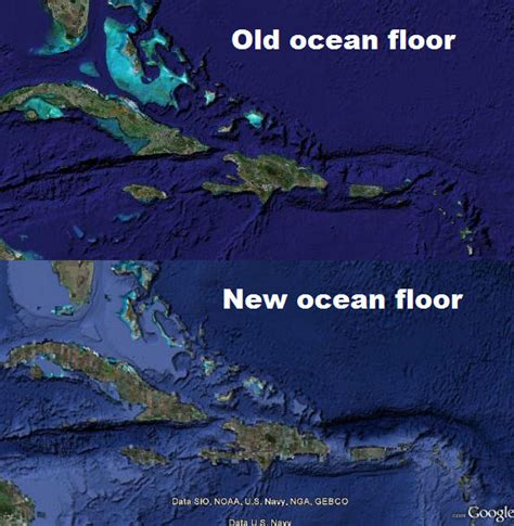 the topography of the floor is like new view of floor in earth earth