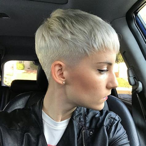 boyish ultrashort close cropped platinum blonde pixie cut pixie cuts