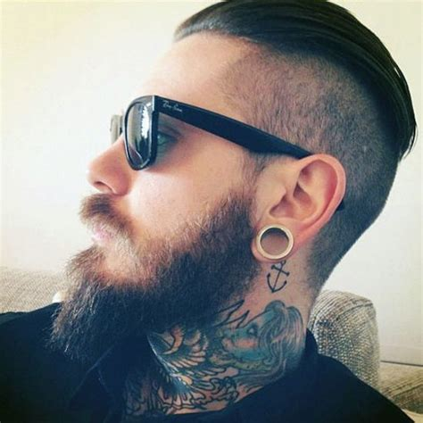 neck tattoo unemployable 17 best images about beards plugs on pinterest plugs